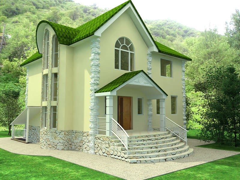 A beautiful and attractive house design for Attractive house designs