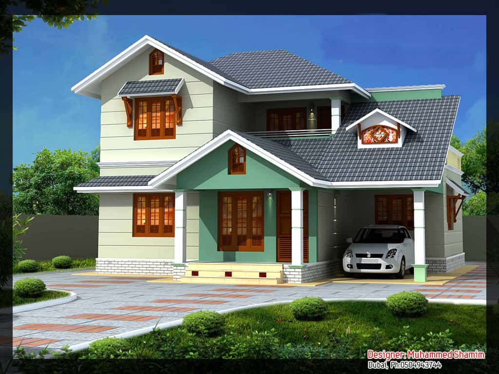 Indian Home Design: Villa Design In India (with Plan And Elevation) : 1637 Sq.Ft