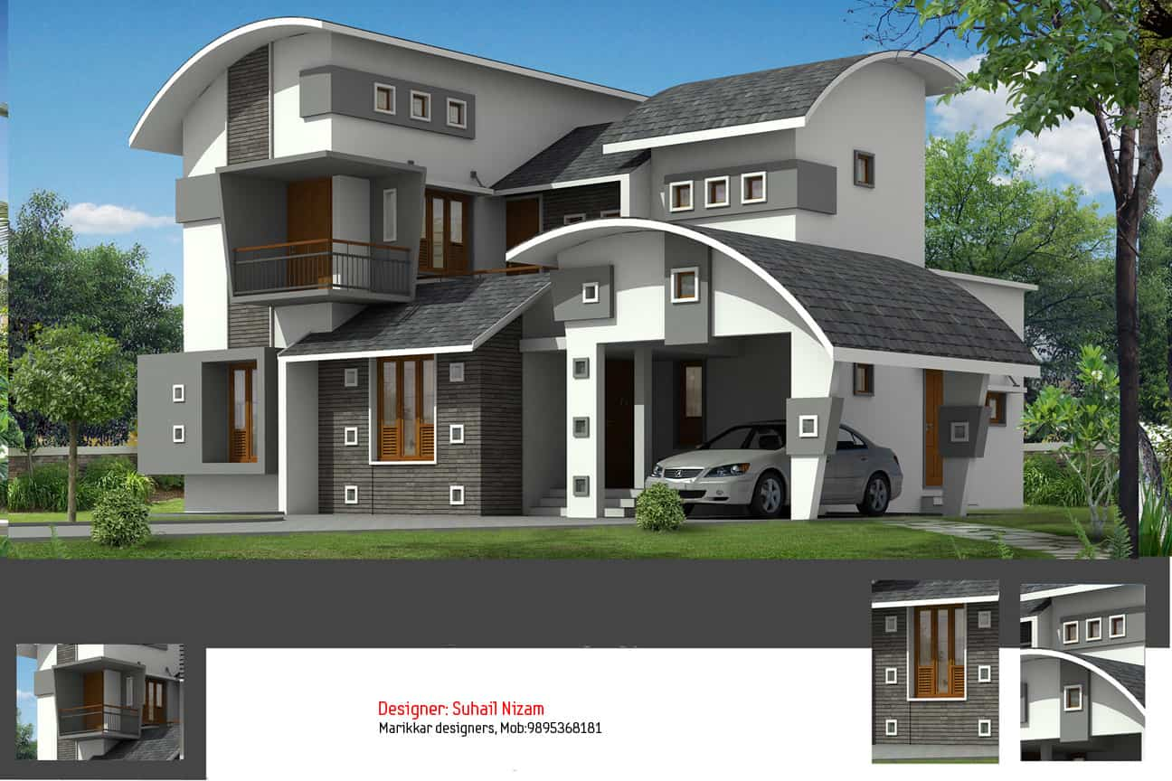 Kerala House Plans with Estimate 20 Lakhs – 1500 sq.ft
