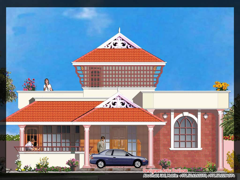 Traditional kerala house plan and elevation 2165 for House elevation