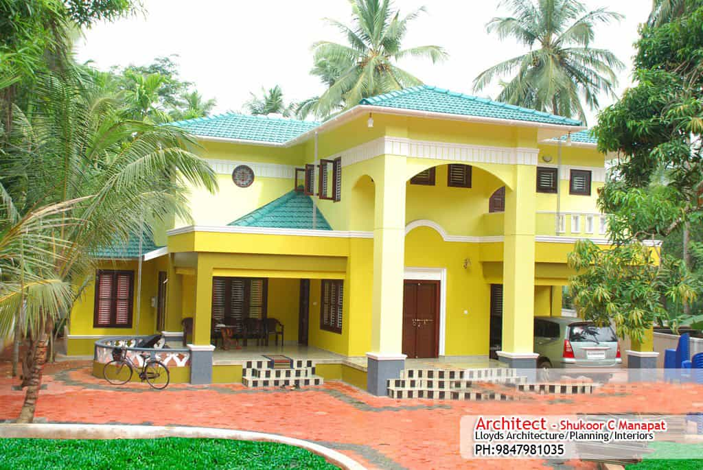 Low cost house in kerala with plan photos 991 sq ft khp for Latest house designs in kerala