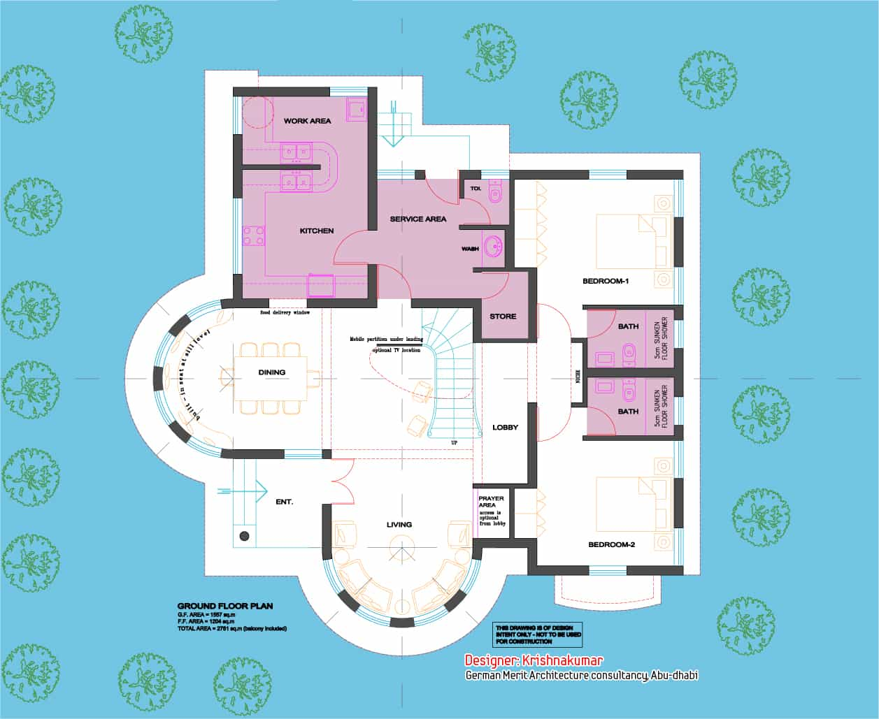 Semi Circular Villa 2700