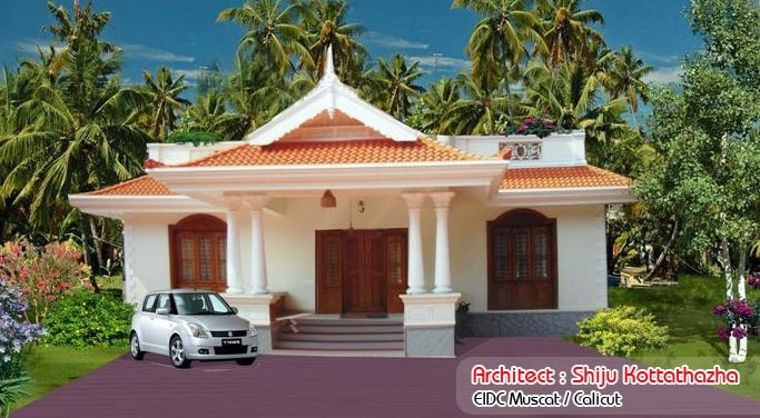 single floor kerala style house design 1155 sqft - Single Floor House Plans