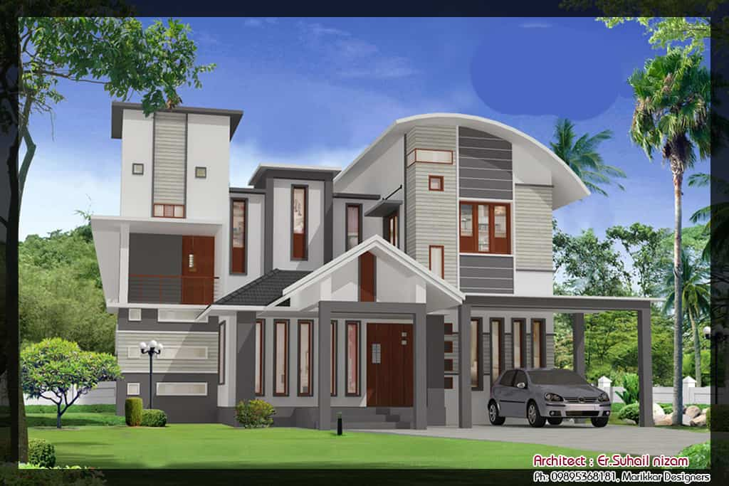 1x1.trans Kerala Home Plan and Elevation at 2023 sq.ft