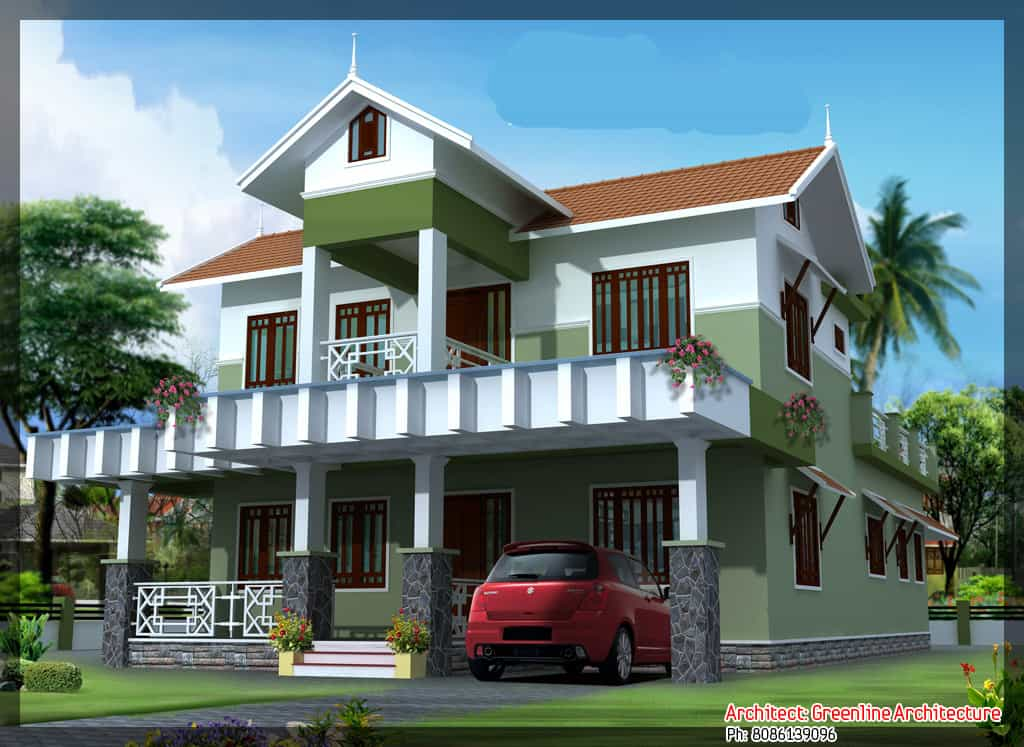 Kerala villa designs keralahouseplanner for Beautiful villa design