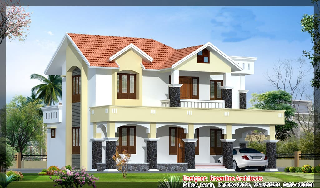 New kerala house plans with front elevation for Latest house elevation