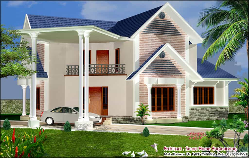 House Elevation plan at 2000 sq.ft