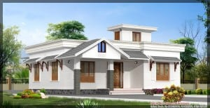 single floor house2 300x154 Simple House Design at 1377 sq.ft