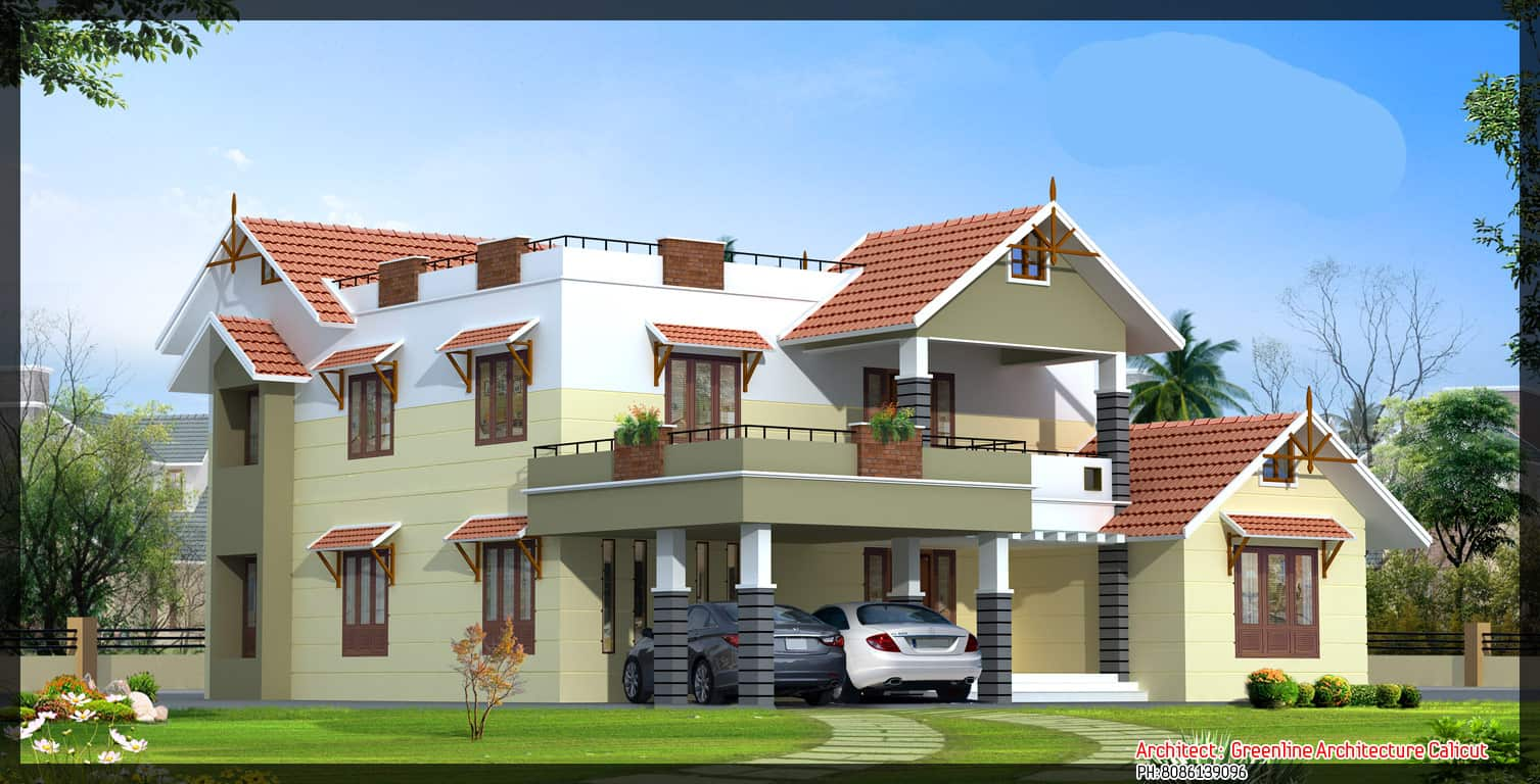 Luxury Villa Elevation At 3669