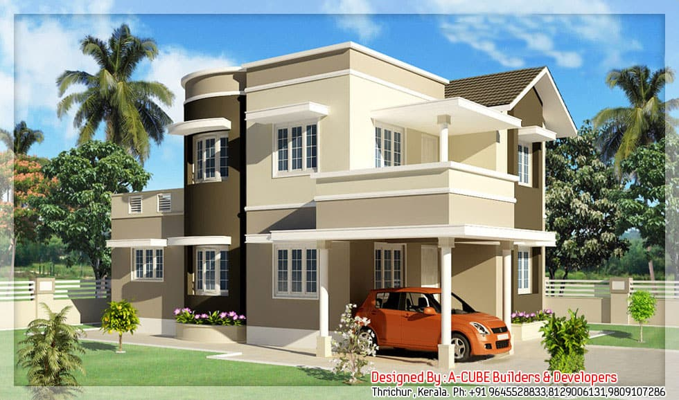 Duplex Kerala Style House At 1600 Sq Ft