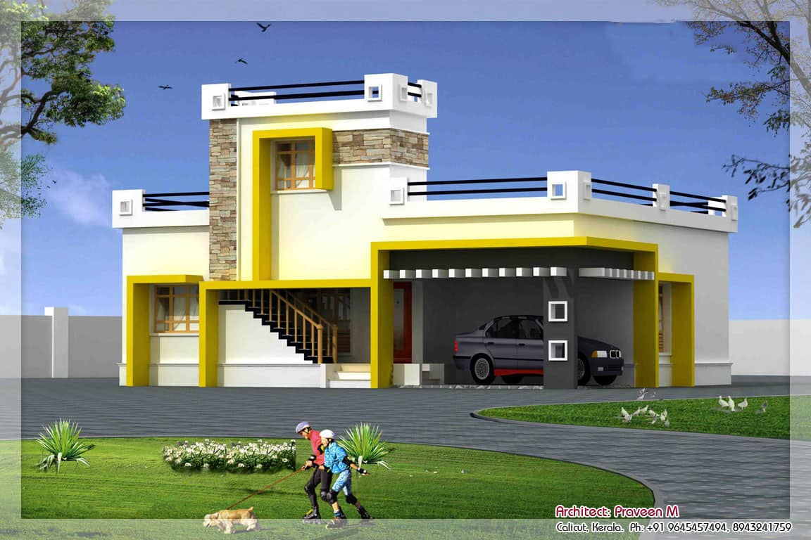 beautiful two storey house at 1500 sqft - Single Floor House Plans