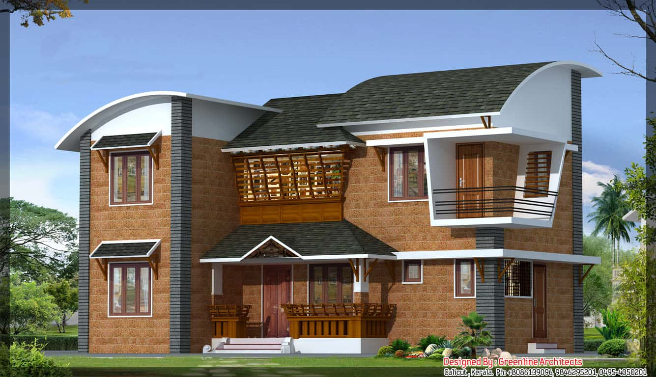 Latest Kerala villa design at 1600 sqft