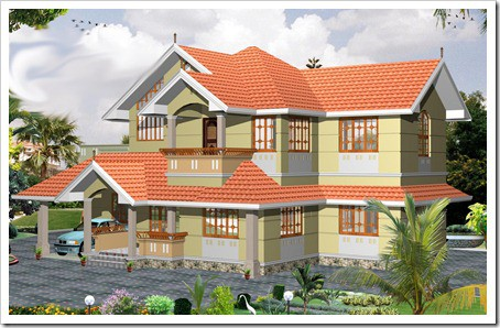 2055 sqft 3BHK House Plan Kerala Home floor plans with photo elevation