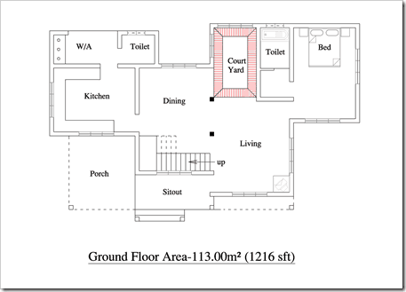 2055 sqft 3BHK House Plan Kerala Home floor plans with photo0002