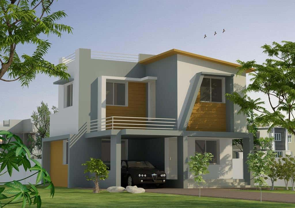 kerala two storey house elevation design at 1356 sq ft