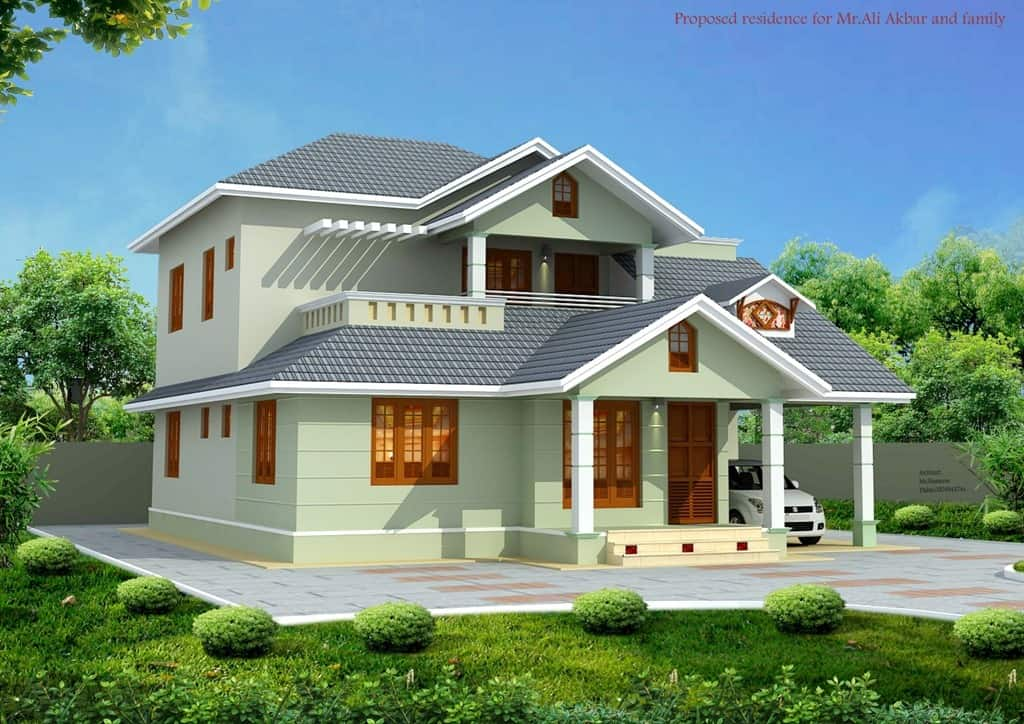 Kerala architecture house design for Beautiful home designs photos