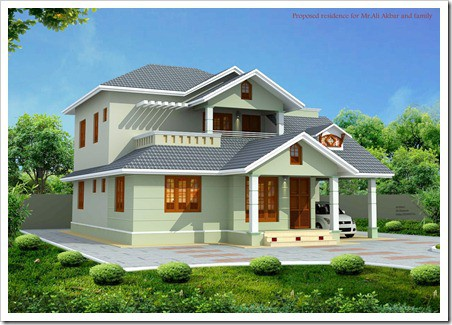 Beautiful House elevation designs thumb Kerala Architecture House