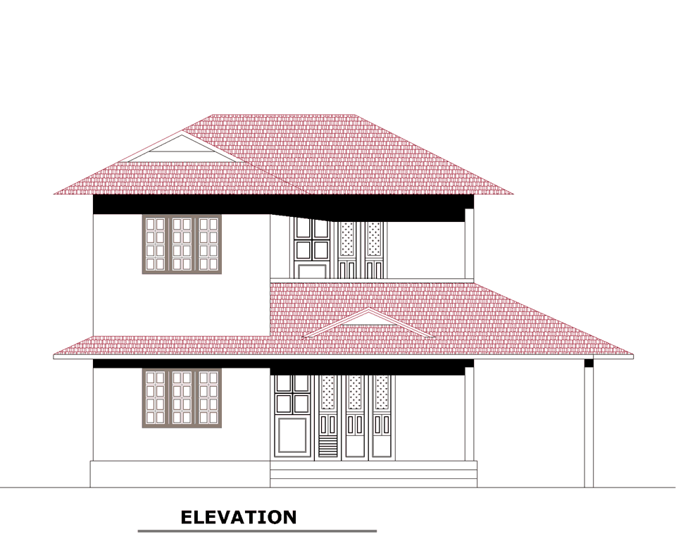 Kerala villa plan at 3189 for Kerala style villa plan and elevation