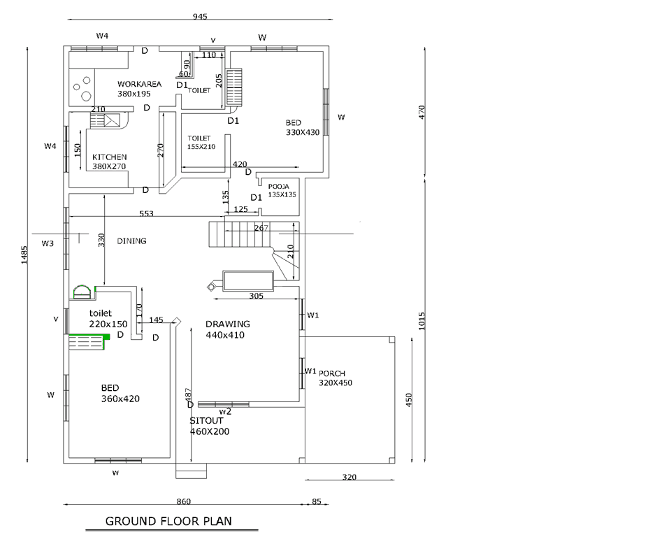 Floor plan for three bedroom bungalow joy studio design for 3 bedroom plan in kerala