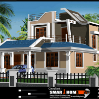 Modern 610 Sqft  3BHK Independent House Villa Floor Plan Design0001