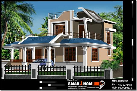 3 BHK home design kerala