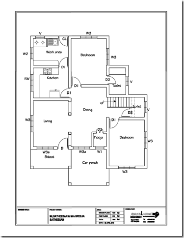 House Villa Floor Plan Design0003 thumb Modern 3 BHK Kerala Home