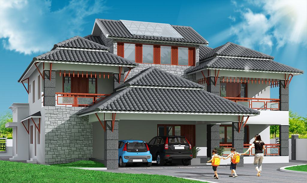 Traditional Kerala Style House Design At 4700