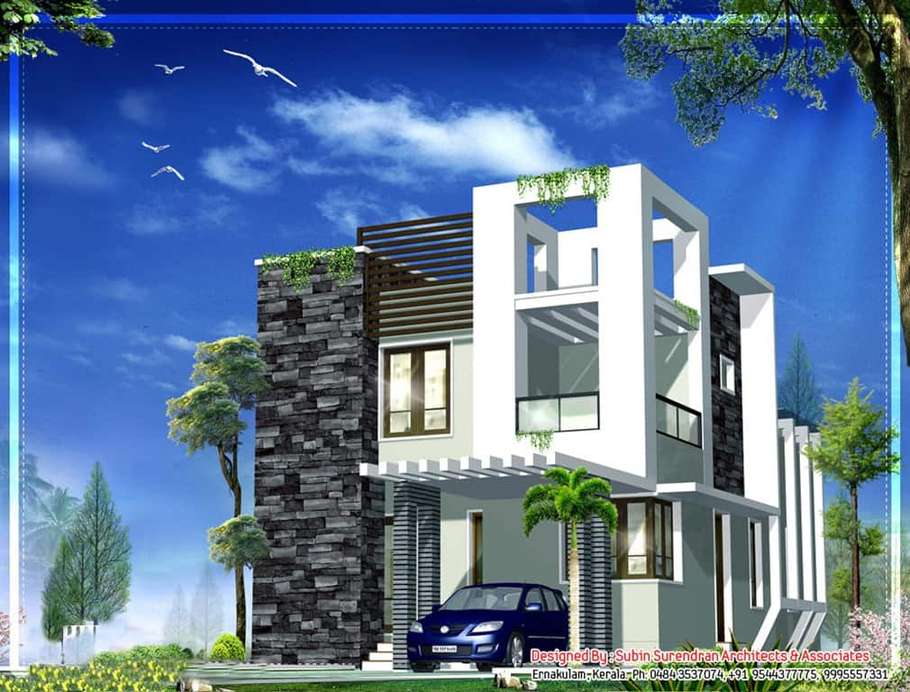 1x1.trans Modern Kerala House Design at 1230 sq.ft