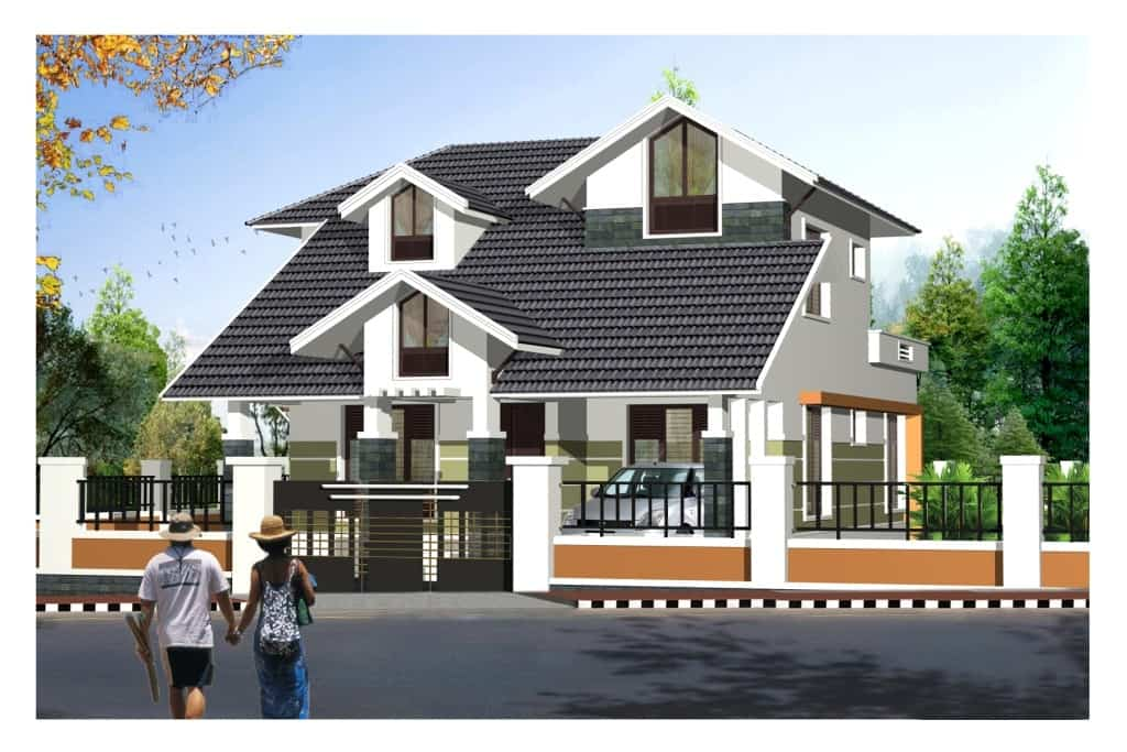 Contemporary Style Kerala Home Design At 2125
