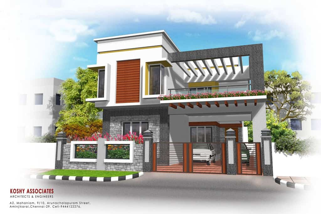 modern house elevations kerala