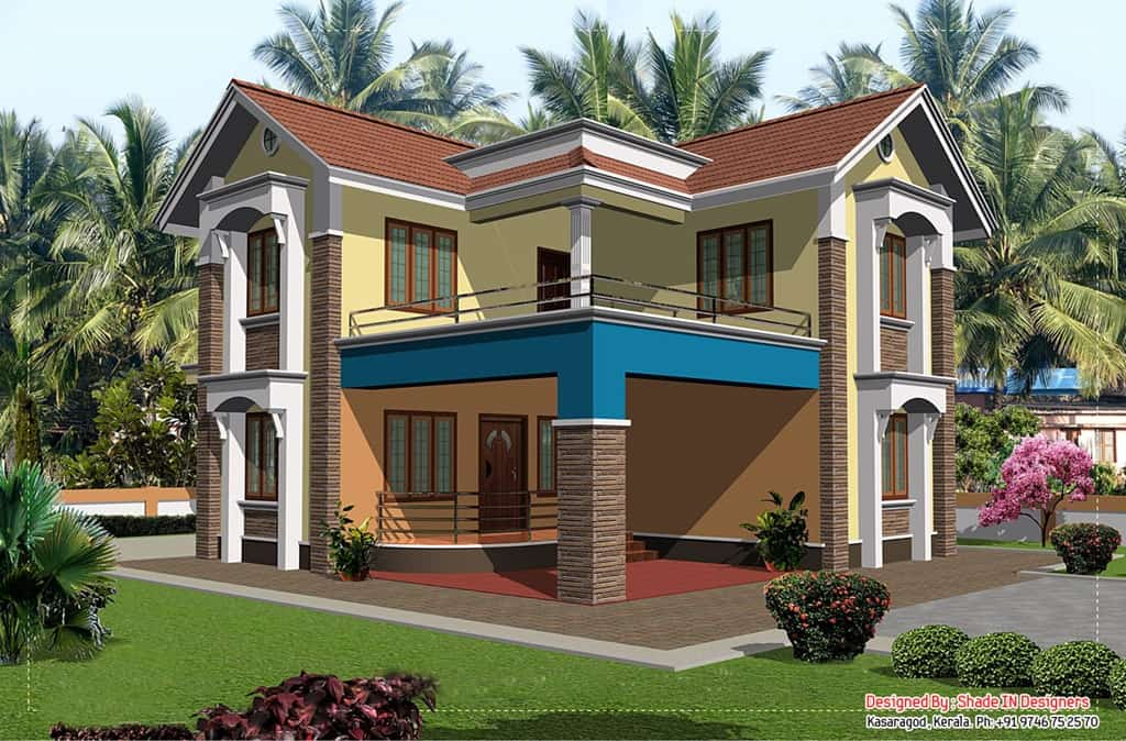 ... two story home design.This house design is really superb and has all