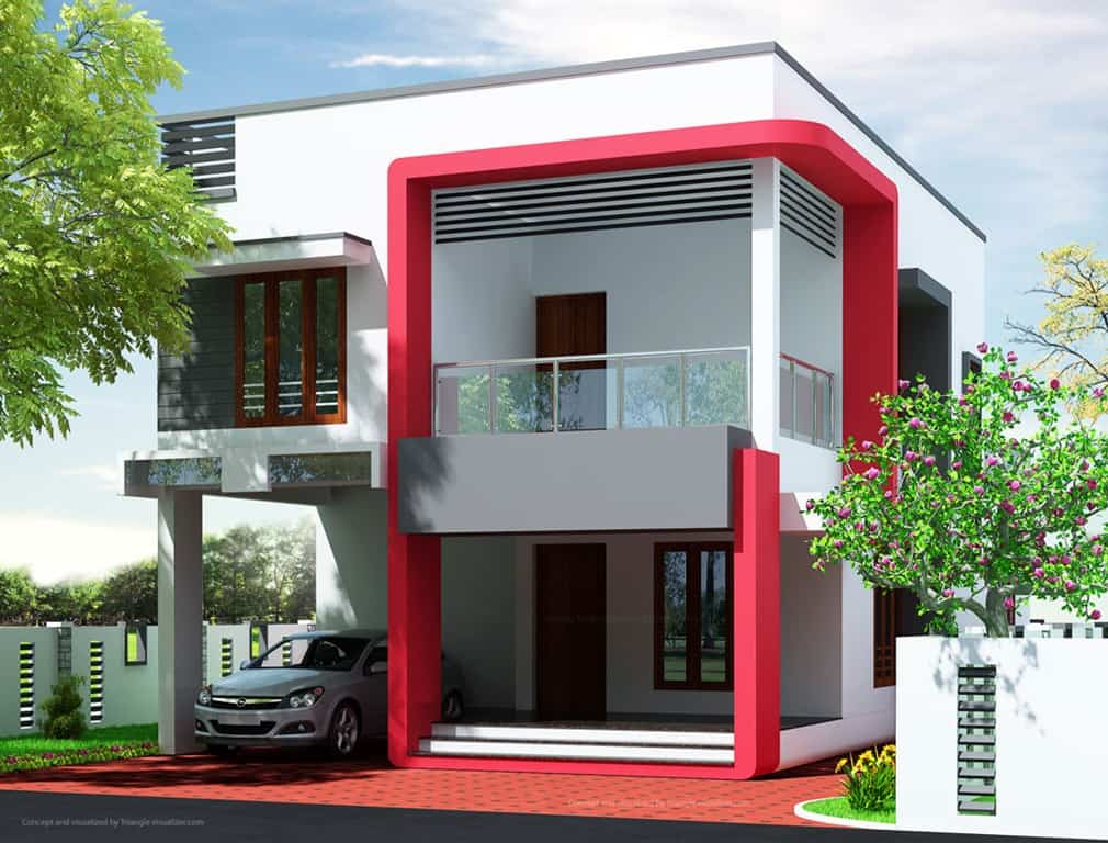 Beautiful kerala villa design low cost bedroom design for Minimalist house kerala