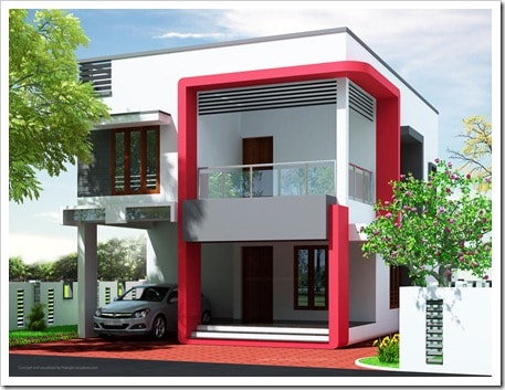 low cost house designs in kerala thumb Low Cost Kerala Home Design at 2000 sq.ft