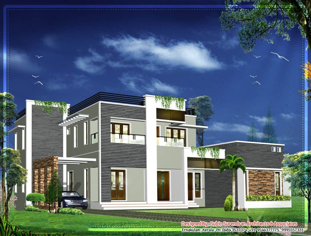 Latest Kerala Home Design At 2012 Sq Ft