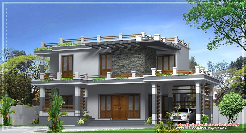 All new kerala home design at 2520 for New houses in kerala