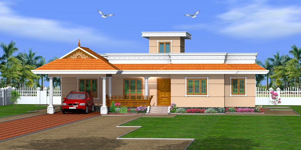kerala home design - Low cost 3 bedroom single floor at 1500 sq.