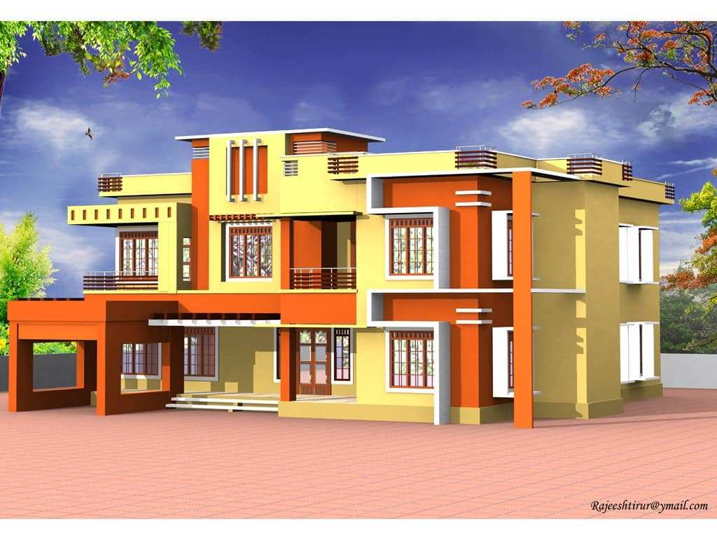 Kerala home design contemporary design at 3000 for 3000 sq ft house plans kerala style