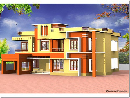 Kerala home design contemporary design at 3000 for 3000 sq ft house plans kerala