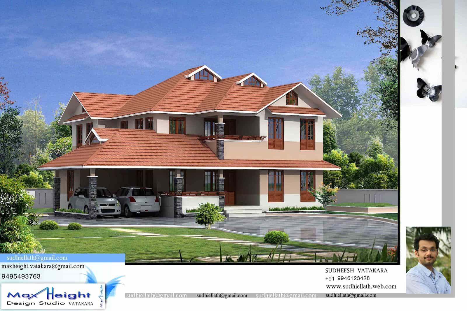 Kerala house model seaside kerala home design for Model house design