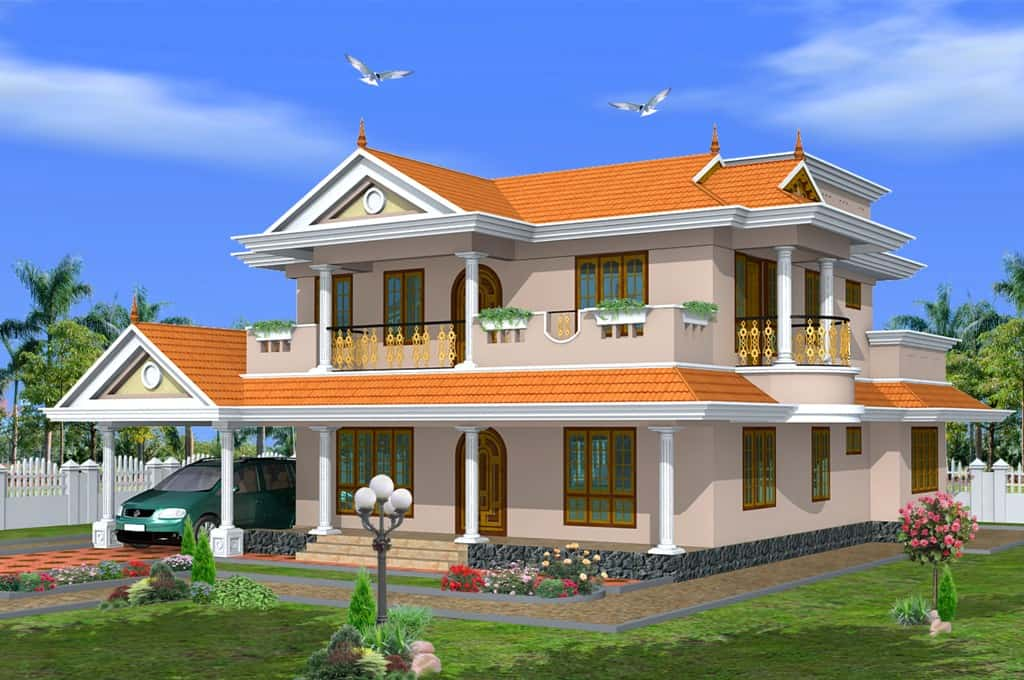 Kerala home design in traditional style at 2475 for Home designs traditional