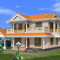 kerala home design in traditional style