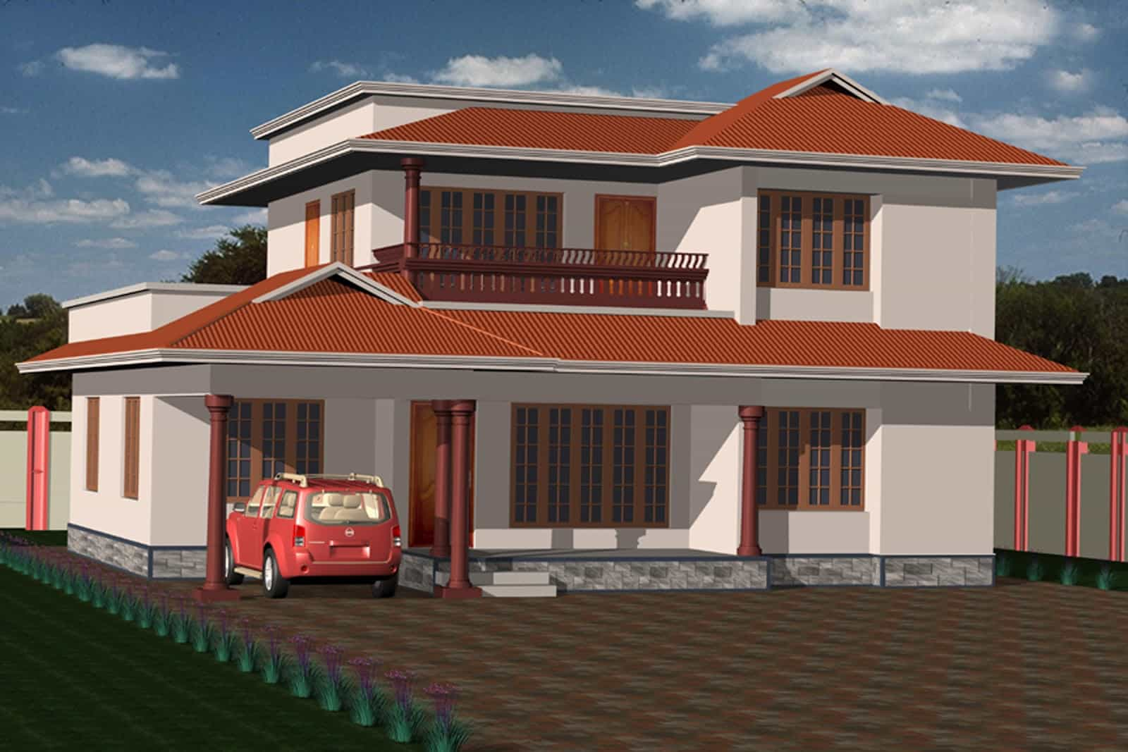 Kerala house elevation plans keralahouseplanner for Kerala house images gallery