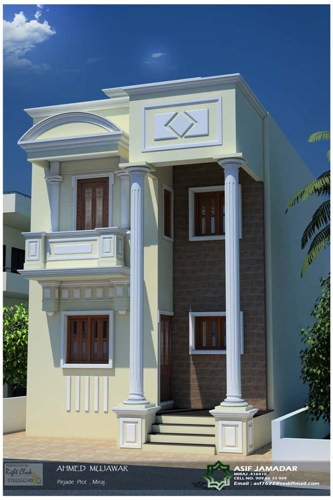 1600 sqft 2 floor box type house design New style Kerala home desing at 1600 sq.ft (box type)