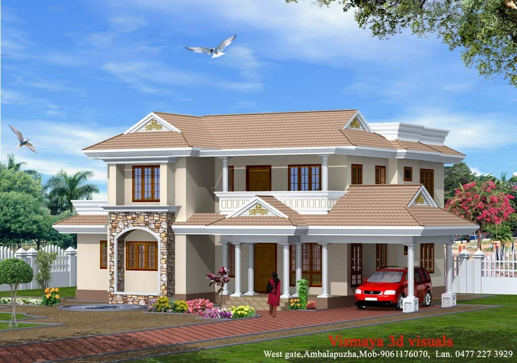Modern style kerala home design at 2340 for Home designs kerala style