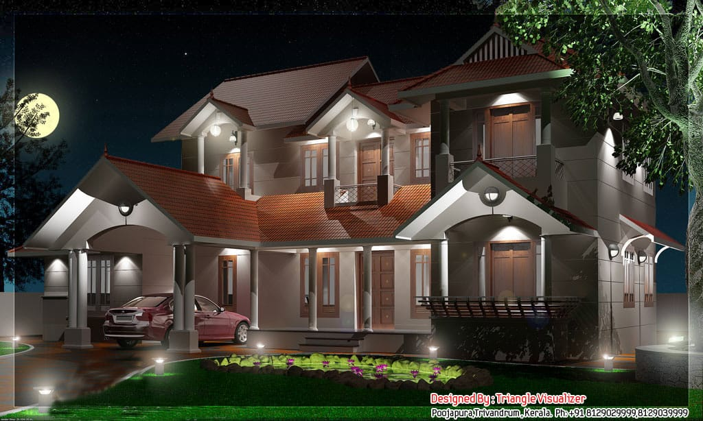 Traditional Style Kerala Home Design At 2800 Sq.ft