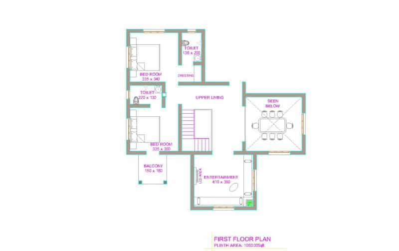 kerala house plan Latest Kerala house plan at 2800 sq.ft