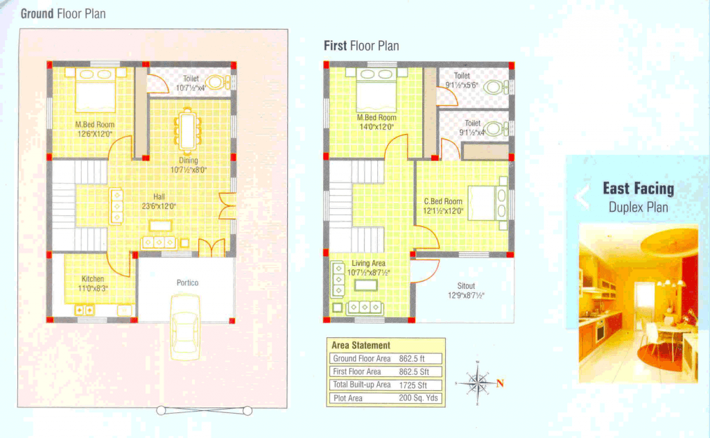 Luxury Duplex House Plans In India