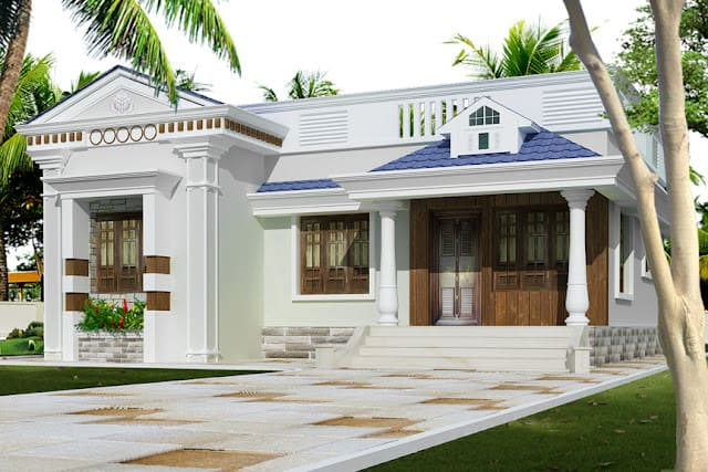kerala home design of single floor house