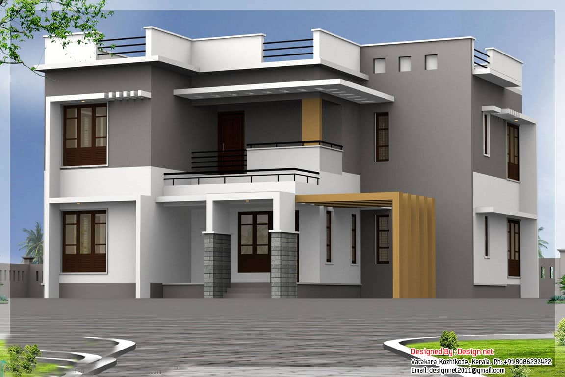 Modern kerala home design at 2500 for New home design in kerala