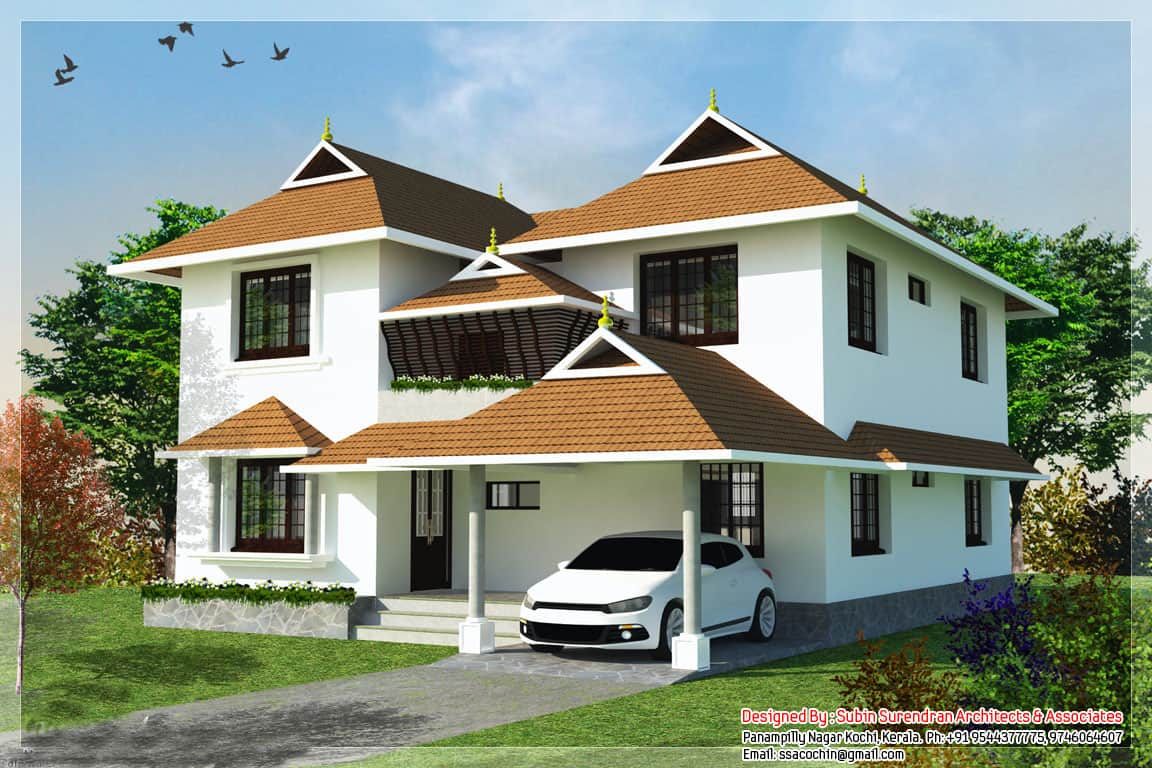 Traditional style kerala home design at 2217 for Kerala home designs com